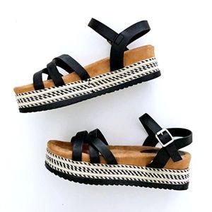 BAMBOO Women's Trendy Platform Sandals 7